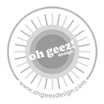 oh geez design logo